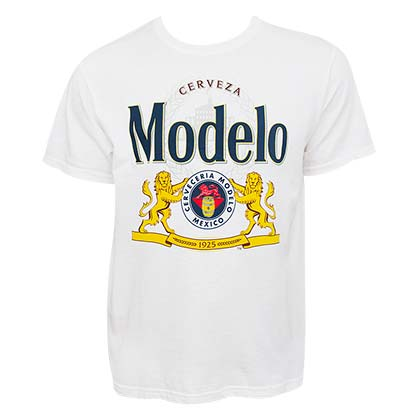 Modelo Cerveza Men's White T-Shirt