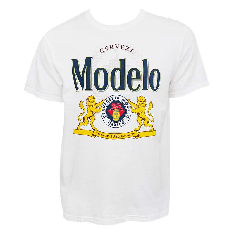 Modelo Cerveza Men's White T-Shirt