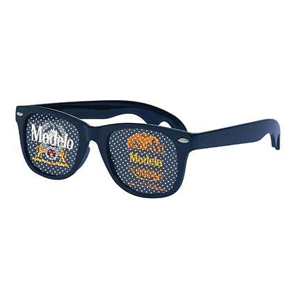 Modelo Dia de los Muertos Classic Dot Lense Navy Blue Sunglasses