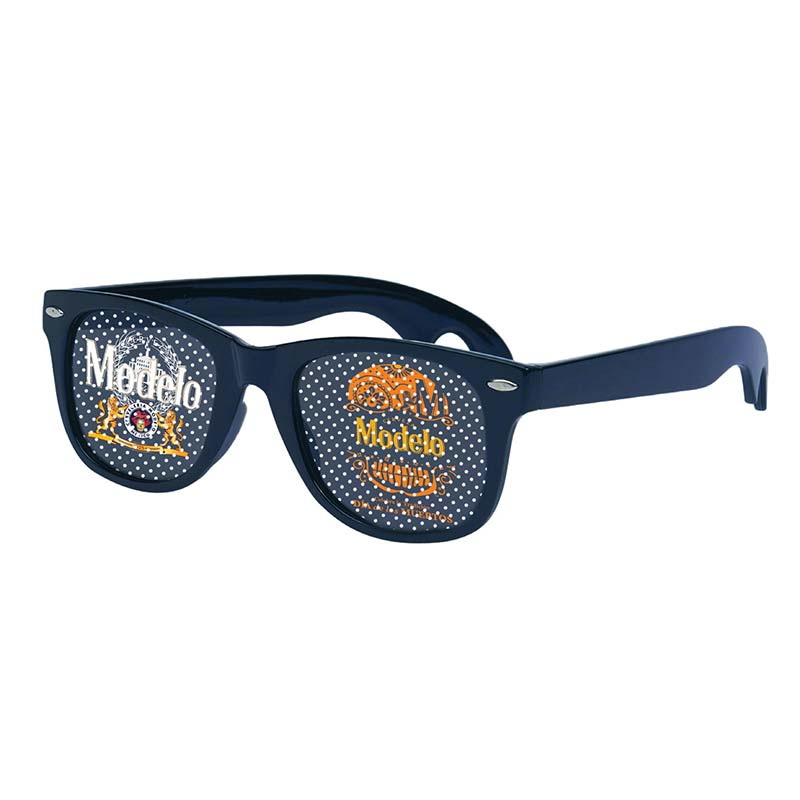 Modelo Dia de los Muertos Classic Dot Lens Navy Blue Sunglasses