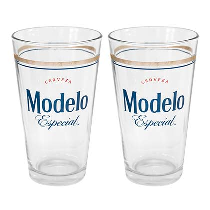 Modelo Especial Beer Logo 2 Pack Pint Glasses
