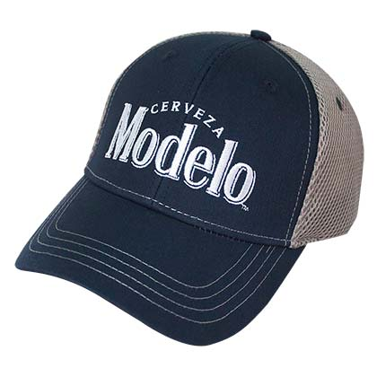 Modelo Navy Blue Padded Mesh Trucker Hat