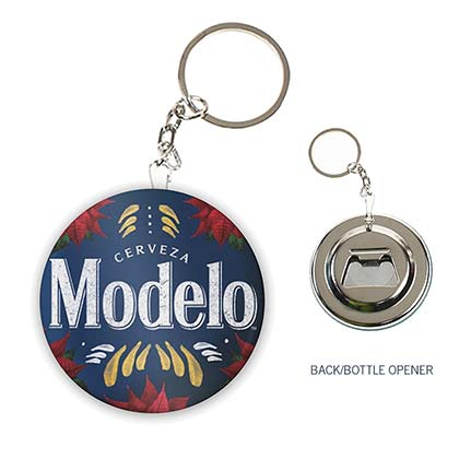 Modelo Holiday Bottle Opener Keychain