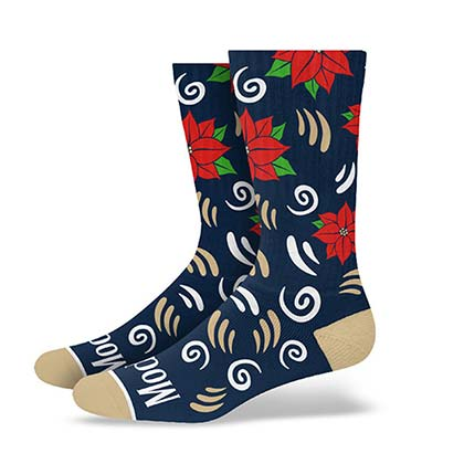 Modelo Holiday Navy Blue Premium Terry Crew Socks