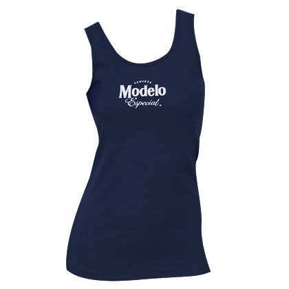 Women's Modelo Beer Navy Blue Tank Top