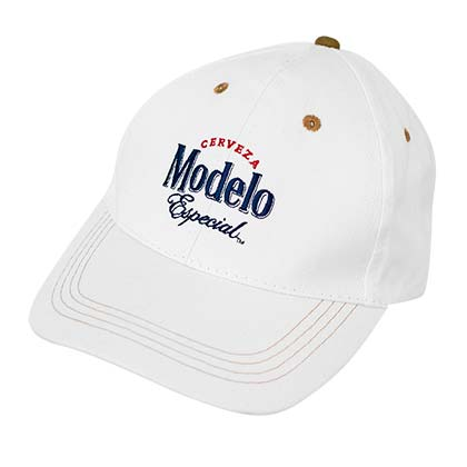 Modelo Beer White Hat