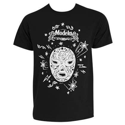 Modelo Men's Black Lucha Libre T-Shirt