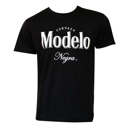 Modelo Negro Men's Black Beer Logo T-Shirt