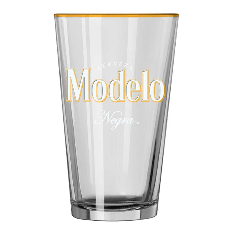 Modelo Negra Gold Rimmed Pint Glass