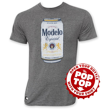 Modelo Especial Men's Grey Can Logo Pop Top T-Shirt