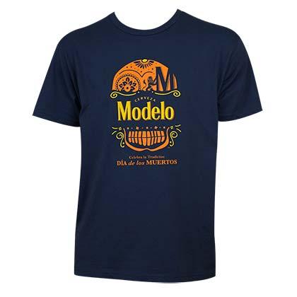 Modelo Especial Dia de Los Muertos Navy Blue Tshirt