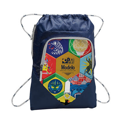 Modelo Soccer Cinch Blue Backpack