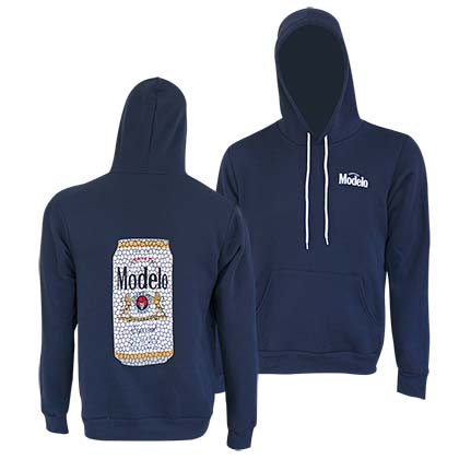 Modelo Men's Navy Blue Stained Glass Can Hoodie