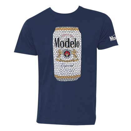 Modelo Stained Glass Can Men's Dark Blue Tee Shirt
