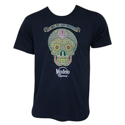 Modelo Especial Men's Navy Blue Skull Logo T-Shirt