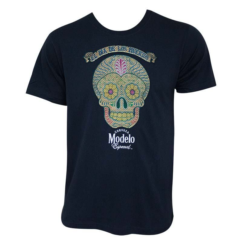Modelo especial embroidered skull logo tee shirt for T shirt with embroidered logo