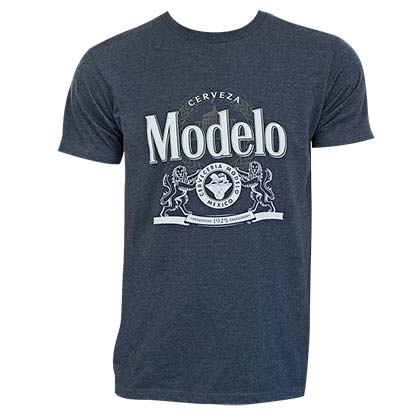 Modelo Men's Blue Crest Logo T-Shirt