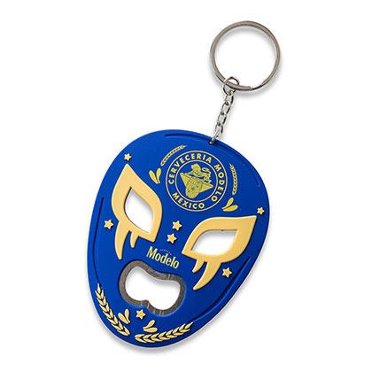 Modelo Lucha Libre Mask Bottle Opener Keychain