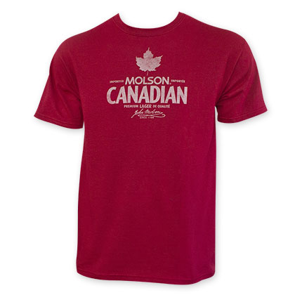 Molson Canadian Men's Red Beer Logo T-Shirt