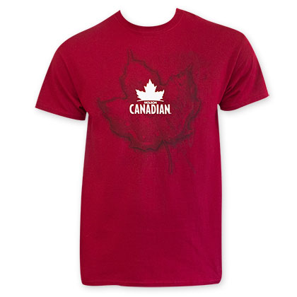 Molson Canadian Men's Red Leaf Logo Tee Shirt