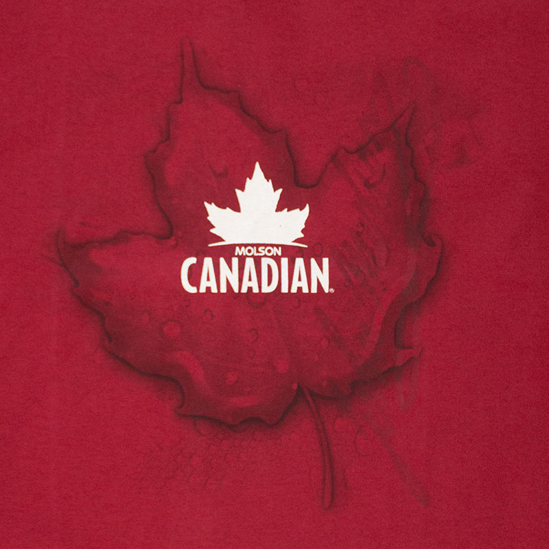 Molson Canadian Men's Red Leaf Logo Tee Shirt