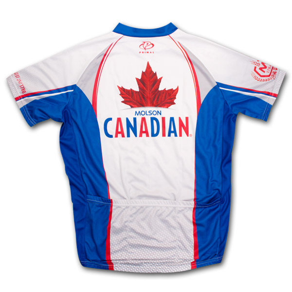 Molson Cycling Jersey White Amp Blue