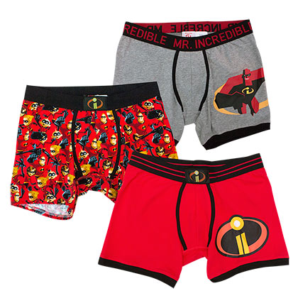 The Incredibles 2 Mr. Incredible Men's Underwear Boxer Brief Set of 3