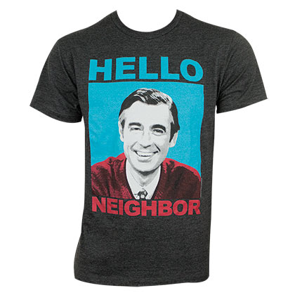 Mister Rogers Men's Gray Hello Neighbor T-Shirt