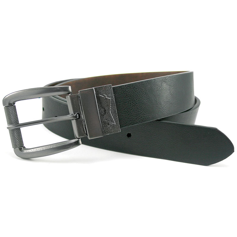 Budweiser Authentic Silver Buckle Reversible Belt