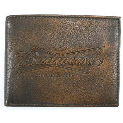Budweiser Embossed Leather Bifold Wallet