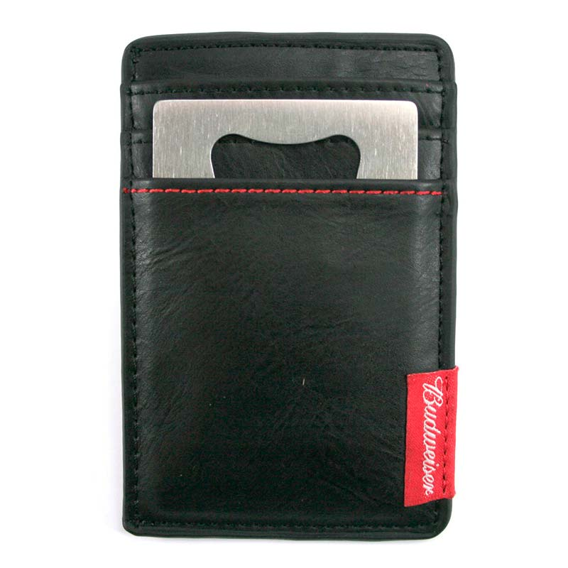 budweiser card holder bottle opener wallet. Black Bedroom Furniture Sets. Home Design Ideas