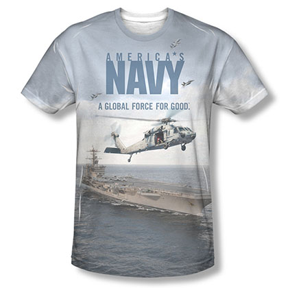 US Navy Over And Under Sublimation T-Shirt