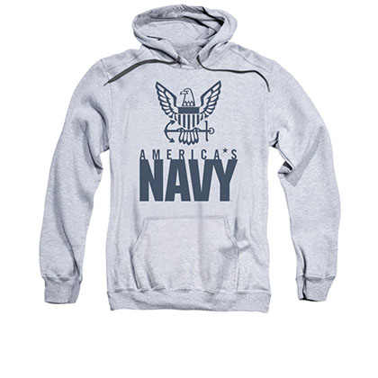 US Navy Eagle Gray Pullover Hoodie
