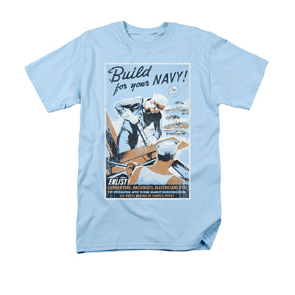 US Navy Build Blue T-Shirt