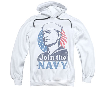 US Navy Join Now White Pullover Hoodie