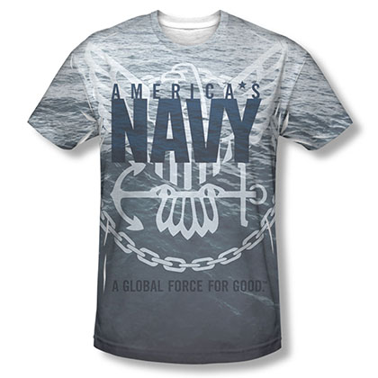 US Navy Force For Good Sublimation T-Shirt