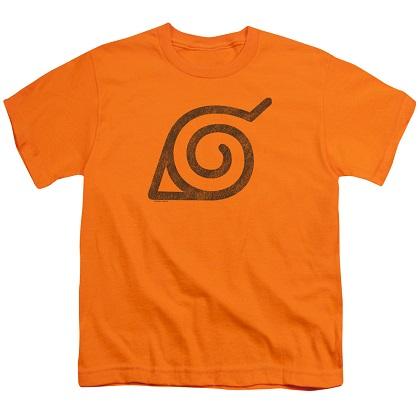 Naruto Leaves Symbol Orange Youth Tshirt