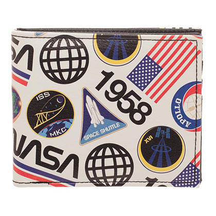 NASA Vintage Space Bifold White Wallet