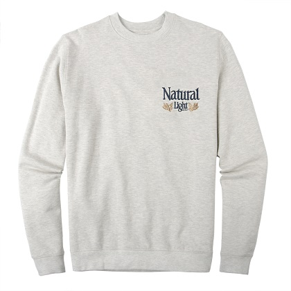 Natural Light Vintage Logo Small Chest Print Crewneck Sweatshirt