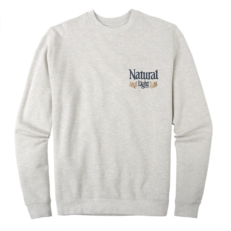 Natural Light Vintage Logo Chest Print Crewneck Sweatshirt