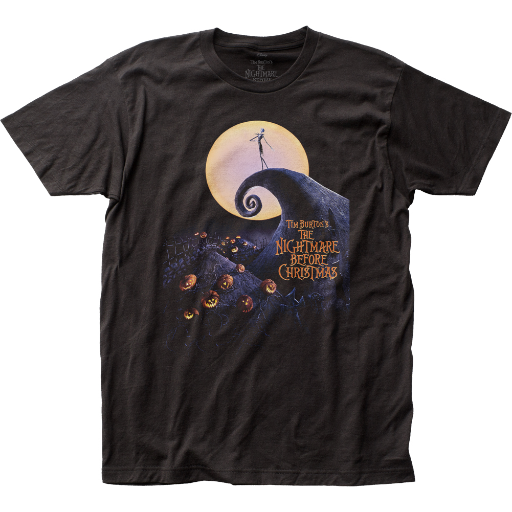 Nightmare Before Christmas Cover Black Tee Shirt