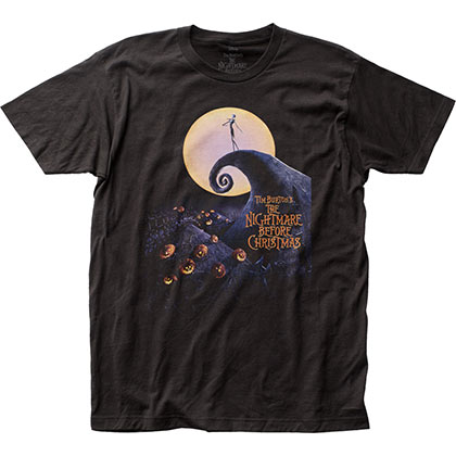 Nightmare Before Christmas Men's Black Cover T-Shirt