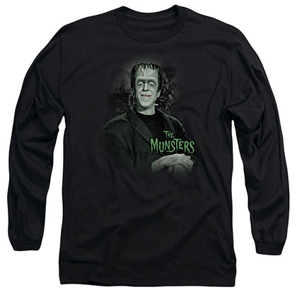 The Munsters Man Of The House Black Long Sleeve T-Shirt