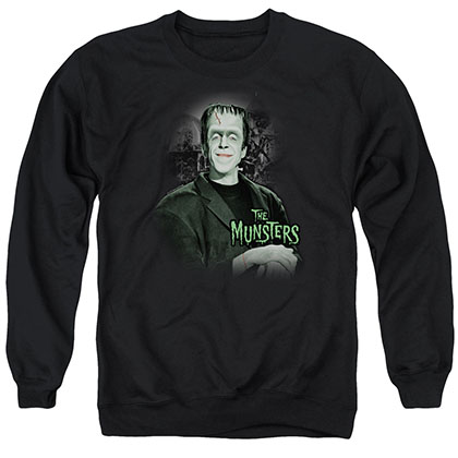 The Munsters Man Of The House Black Crew Neck Sweatshirt