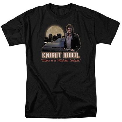 Knight Rider Full Moon Black T-Shirt