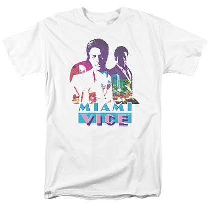 Miami Vice Crockett And Tubbs White T-Shirt