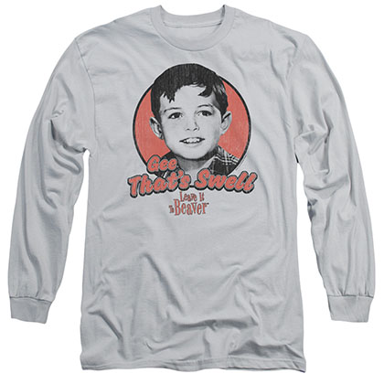 Leave It To Beaver Swell Gray Long Sleeve T-Shirt
