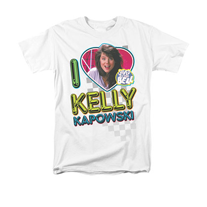 Saved By The Bell I Love Kelly White T-Shirt