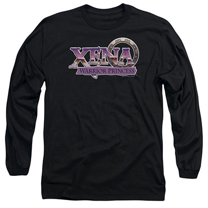 Xena Logo Black Long Sleeve T-Shirt