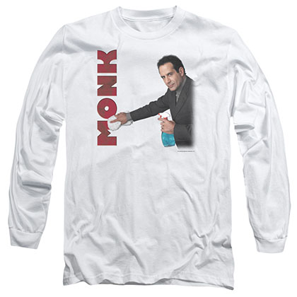 Monk Clean Up White Long Sleeve T-Shirt